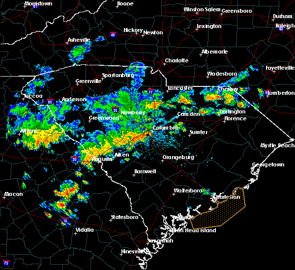 Radar Image for Severe Thunderstorms near Belvedere, SC at 7/2/2015 4:44 PM EDT