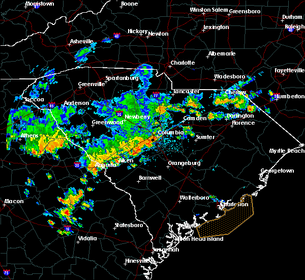 Radar Image for Severe Thunderstorms near Murphys Estates, SC at 7/2/2015 4:44 PM EDT