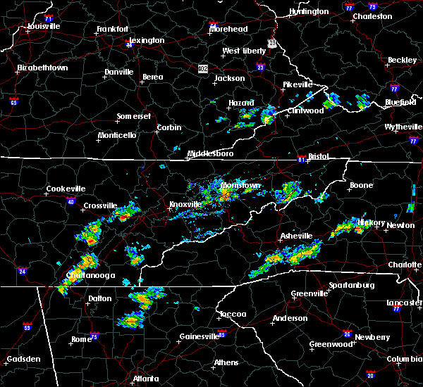 Radar Image for Severe Thunderstorms near Mosheim, TN at 8/4/2020 4:55 PM EDT