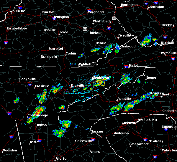 Radar Image for Severe Thunderstorms near Mosheim, TN at 8/4/2020 5:18 PM EDT
