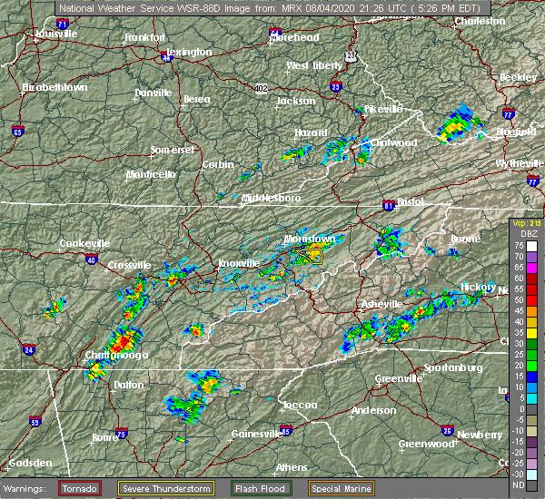 Radar Image for Severe Thunderstorms near Mosheim, TN at 8/4/2020 5:28 PM EDT
