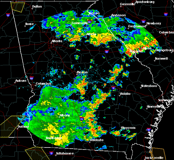Radar Image for Severe Thunderstorms near Jeffersonville, GA at 7/2/2015 4:46 PM EDT