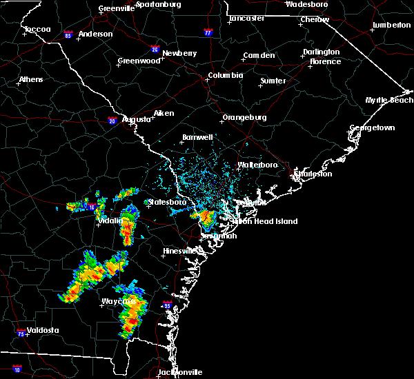 Radar Image for Severe Thunderstorms near Hardeeville, SC at 8/4/2020 5:35 PM EDT