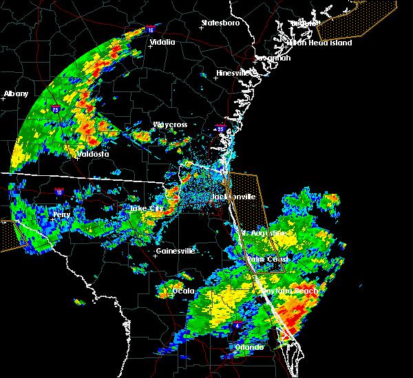 Radar Image for Severe Thunderstorms near Jacksonville, FL at 7/2/2015 4:49 PM EDT