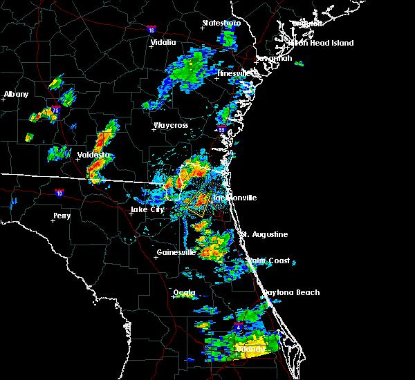 Radar Image for Severe Thunderstorms near Jacksonville, FL at 8/4/2020 7:27 PM EDT