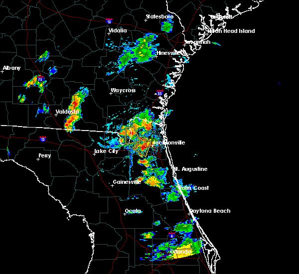 Radar Image for Severe Thunderstorms near Jacksonville, FL at 8/4/2020 7:40 PM EDT
