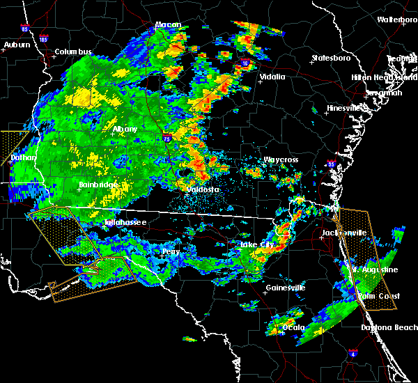 Radar Image for Severe Thunderstorms near Fitzgerald, GA at 7/2/2015 4:50 PM EDT