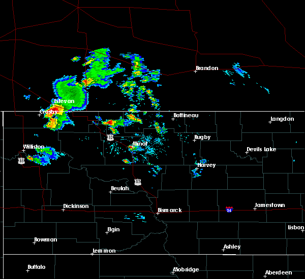 Radar Image for Severe Thunderstorms near Noonan, ND at 8/4/2020 6:46 PM CDT