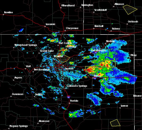 Radar Image for Severe Thunderstorms near Erie, CO at 8/4/2020 6:00 PM MDT