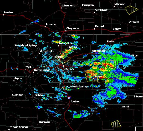 Radar Image for Severe Thunderstorms near Erie, CO at 8/4/2020 6:24 PM MDT