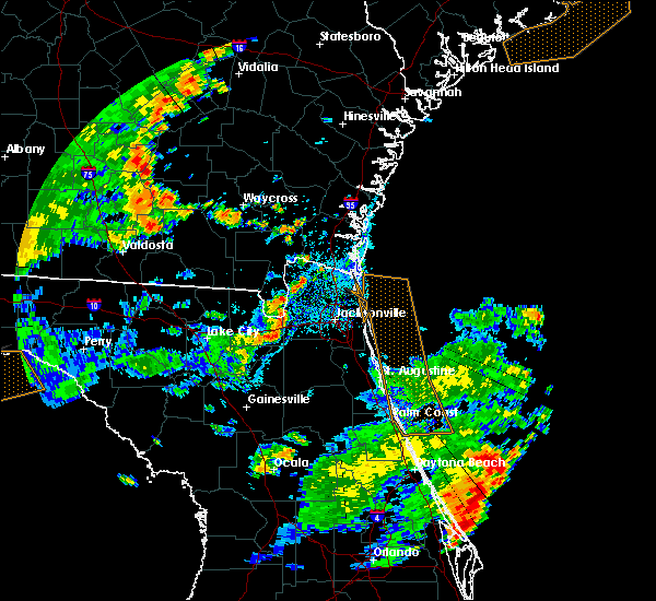 Radar Image for Severe Thunderstorms near Jacksonville, FL at 7/2/2015 4:56 PM EDT
