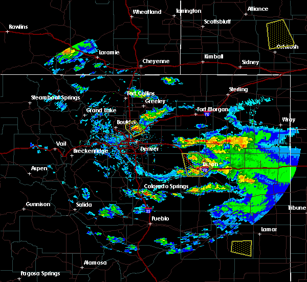 Radar Image for Severe Thunderstorms near Erie, CO at 8/4/2020 6:39 PM MDT
