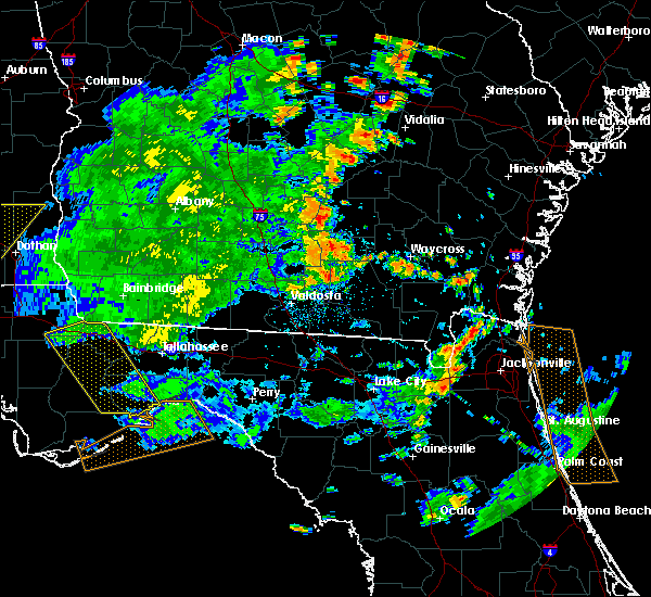 Radar Image for Severe Thunderstorms near Lakeland, GA at 7/2/2015 4:59 PM EDT