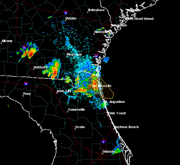 Radar Image for Severe Thunderstorms near Palm Valley, FL at 8/4/2020 8:48 PM EDT