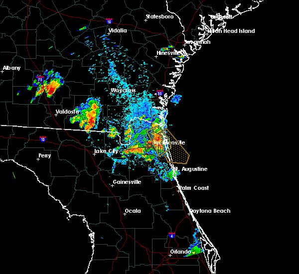 Radar Image for Severe Thunderstorms near Jacksonville, FL at 8/4/2020 8:48 PM EDT