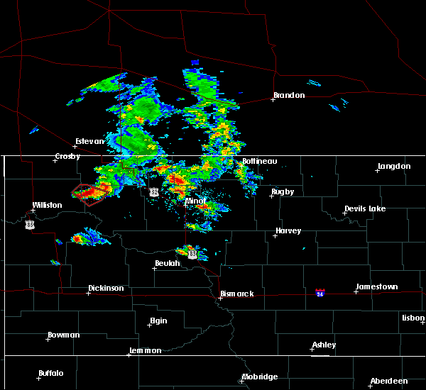 Radar Image for Severe Thunderstorms near Tioga, ND at 8/4/2020 7:57 PM CDT