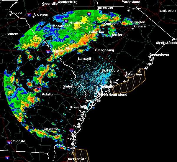 Radar Image for Severe Thunderstorms near Keysville, GA at 7/2/2015 5:03 PM EDT