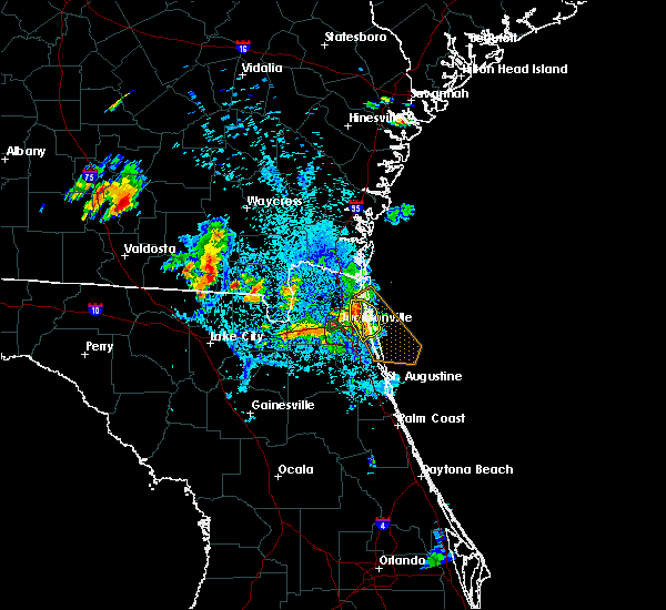 Radar Image for Severe Thunderstorms near Palm Valley, FL at 8/4/2020 9:00 PM EDT