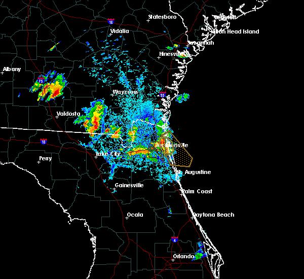 Radar Image for Severe Thunderstorms near Jacksonville, FL at 8/4/2020 9:00 PM EDT