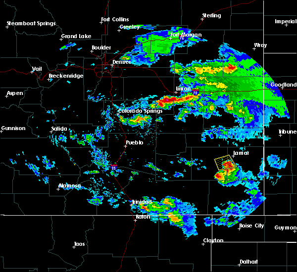Radar Image for Severe Thunderstorms near Lamar, CO at 8/4/2020 7:12 PM MDT