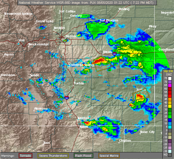 Radar Image for Severe Thunderstorms near Lamar, CO at 8/4/2020 7:26 PM MDT