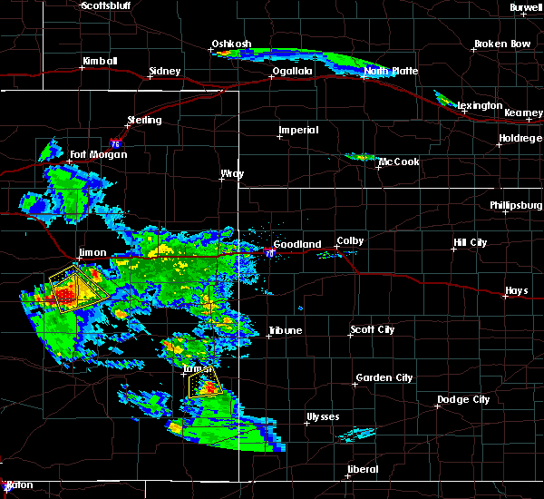 Radar Image for Severe Thunderstorms near Holly, CO at 8/4/2020 7:46 PM MDT