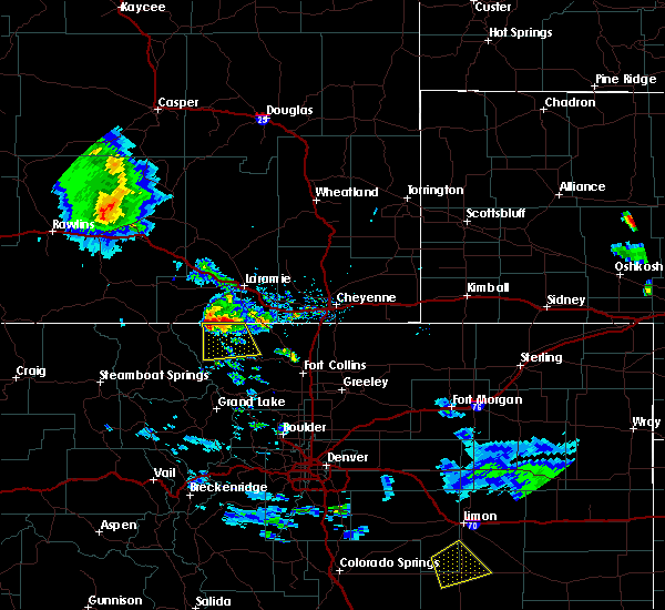 Radar Image for Severe Thunderstorms near Red Feather Lakes, CO at 8/4/2020 8:07 PM MDT