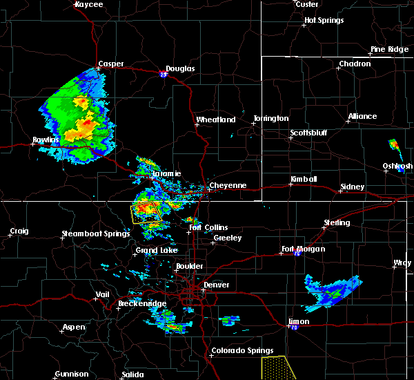 Radar Image for Severe Thunderstorms near Red Feather Lakes, CO at 8/4/2020 8:29 PM MDT