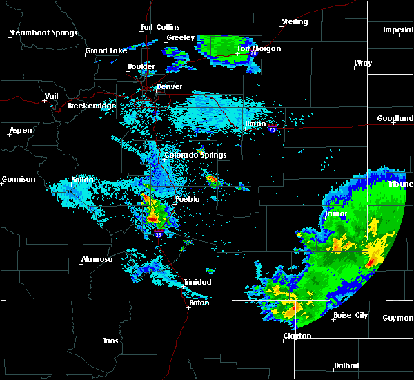 Radar Image for Severe Thunderstorms near Beulah Valley, CO at 8/4/2020 11:22 PM MDT