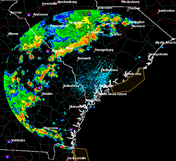 Radar Image for Severe Thunderstorms near Barnwell, SC at 7/2/2015 5:09 PM EDT
