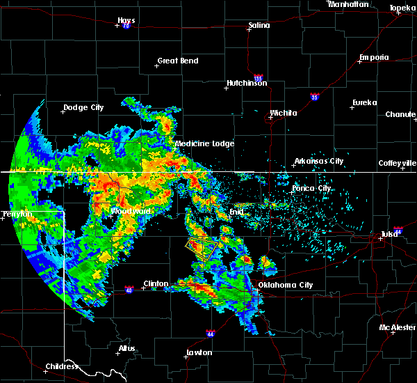 Radar Image for Severe Thunderstorms near Loyal, OK at 8/5/2020 2:18 AM CDT