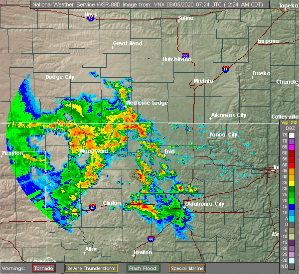Radar Image for Severe Thunderstorms near Loyal, OK at 8/5/2020 2:30 AM CDT