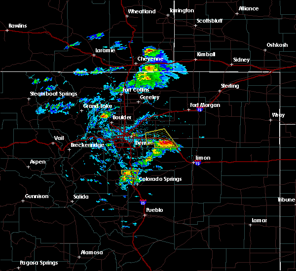 Radar Image for Severe Thunderstorms near Colorado Springs, CO at 8/5/2020 3:05 PM MDT