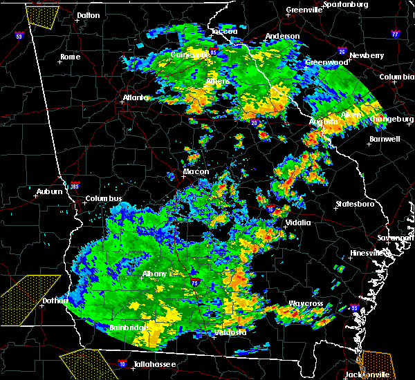 Radar Image for Severe Thunderstorms near Toomsboro, GA at 7/2/2015 5:11 PM EDT