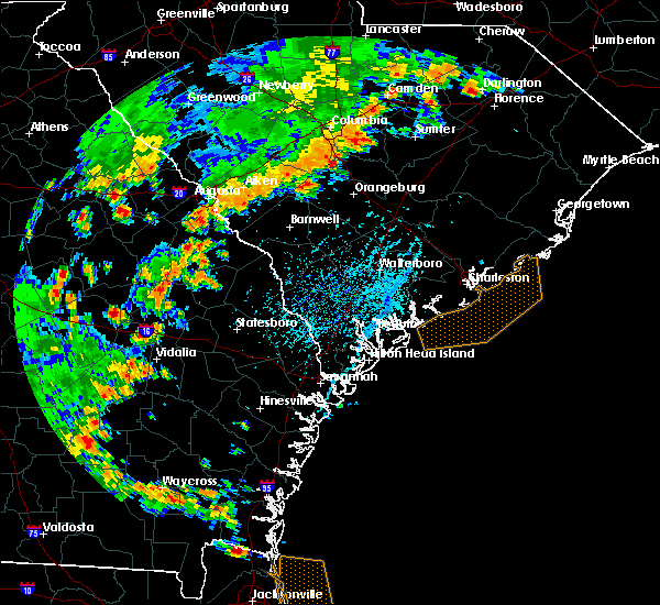 Radar Image for Severe Thunderstorms near Barnwell, SC at 7/2/2015 5:11 PM EDT