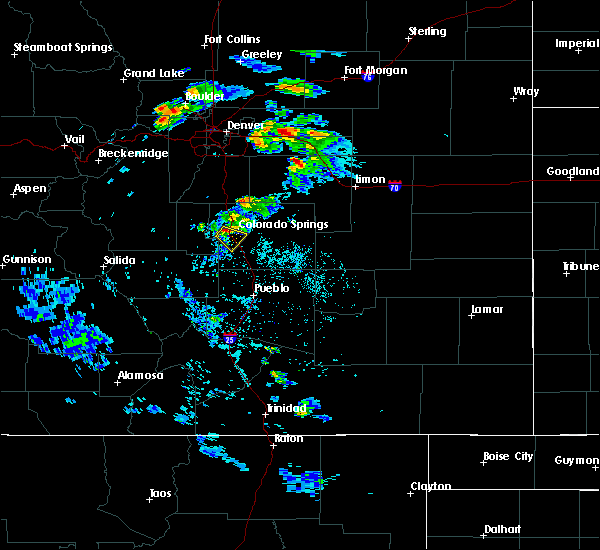 Radar Image for Severe Thunderstorms near Colorado Springs, CO at 8/5/2020 3:51 PM MDT