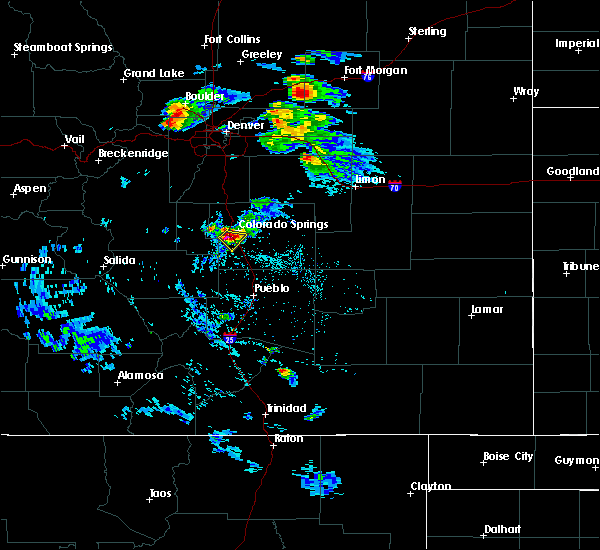 Radar Image for Severe Thunderstorms near Colorado Springs, CO at 8/5/2020 4:05 PM MDT