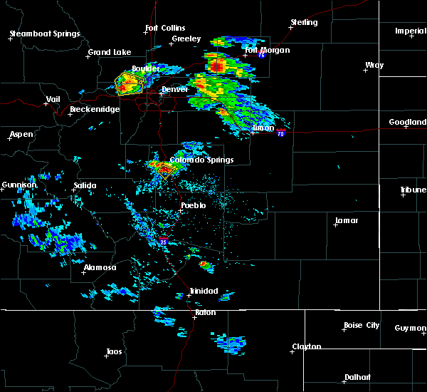 Radar Image for Severe Thunderstorms near Colorado Springs, CO at 8/5/2020 4:11 PM MDT