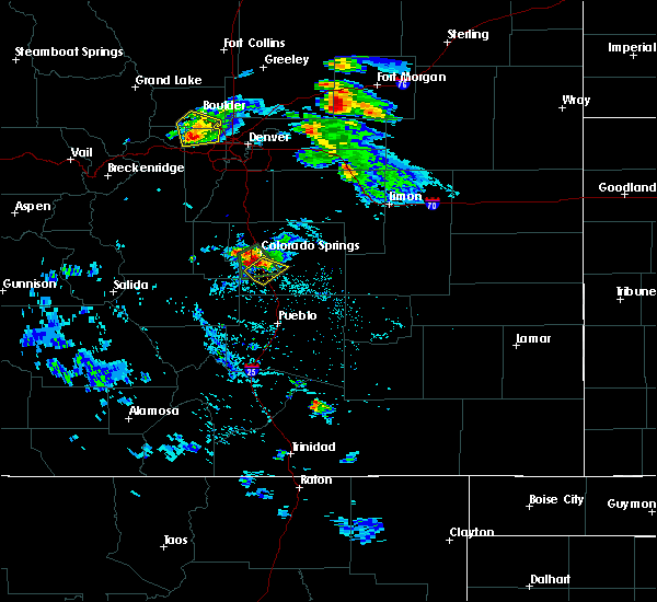 Radar Image for Severe Thunderstorms near Colorado Springs, CO at 8/5/2020 4:24 PM MDT