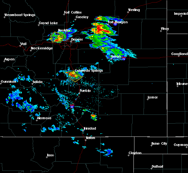 Radar Image for Severe Thunderstorms near Colorado Springs, CO at 8/5/2020 4:30 PM MDT