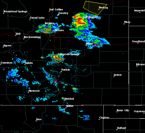 Radar Image for Severe Thunderstorms near Colorado Springs, CO at 8/5/2020 4:48 PM MDT