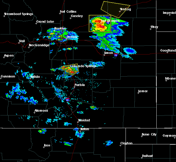 Radar Image for Severe Thunderstorms near Colorado Springs, CO at 8/5/2020 5:01 PM MDT