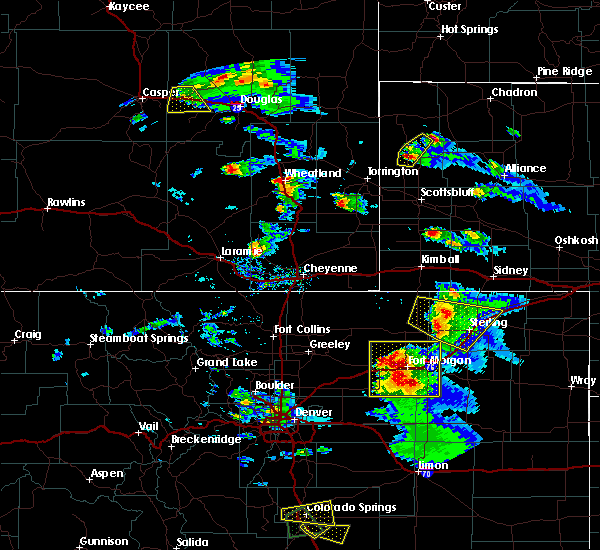 Radar Image for Severe Thunderstorms near Sterling, CO at 8/5/2020 5:03 PM MDT
