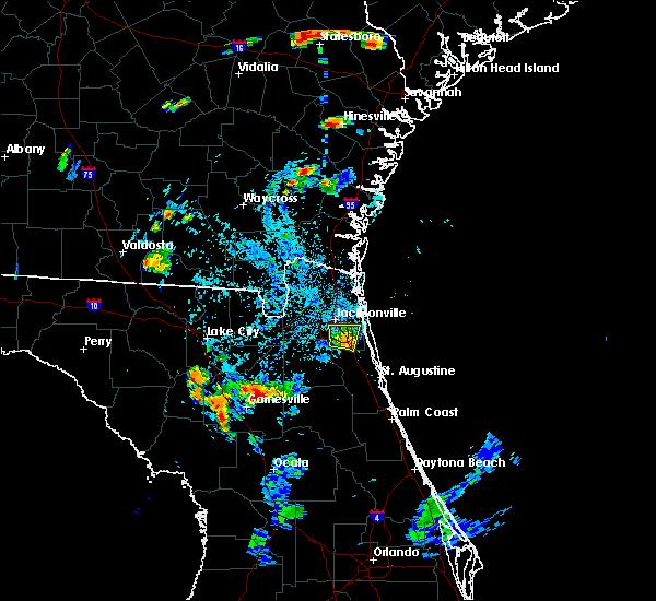 Radar Image for Severe Thunderstorms near Jacksonville, FL at 8/5/2020 7:08 PM EDT