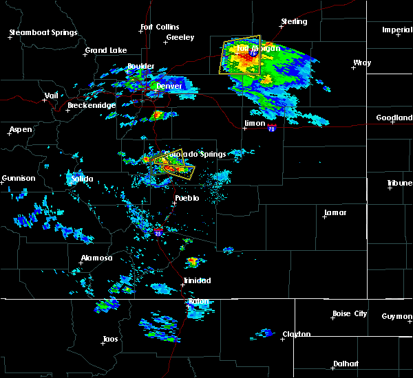 Radar Image for Severe Thunderstorms near Colorado Springs, CO at 8/5/2020 5:26 PM MDT