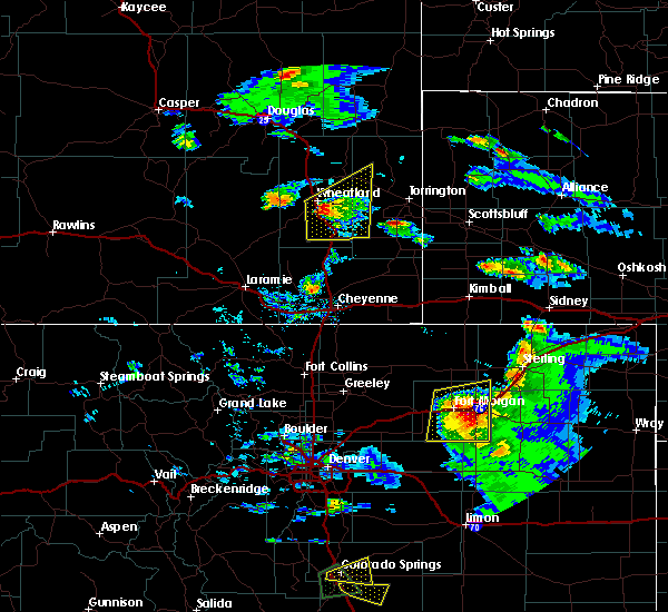 Radar Image for Severe Thunderstorms near Slater, WY at 8/5/2020 5:27 PM MDT