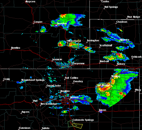 Radar Image for Severe Thunderstorms near Slater, WY at 8/5/2020 5:40 PM MDT