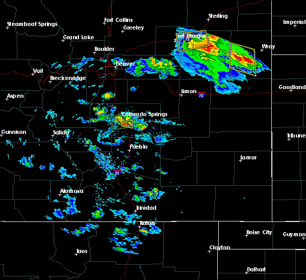 Radar Image for Severe Thunderstorms near Colorado Springs, CO at 8/5/2020 5:59 PM MDT
