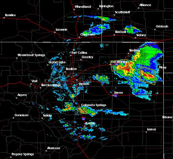 Radar Image for Severe Thunderstorms near Otis, CO at 8/5/2020 6:01 PM MDT