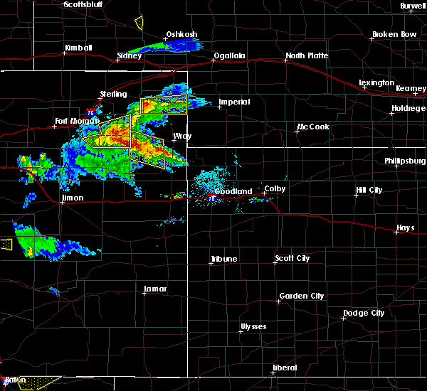 Radar Image for Severe Thunderstorms near Paoli, CO at 8/5/2020 6:28 PM MDT